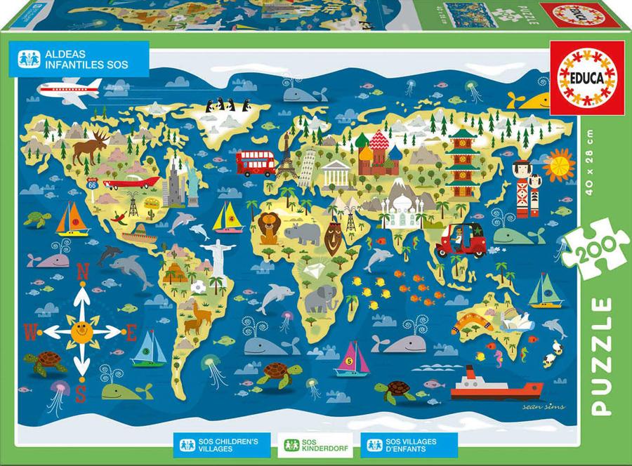 Puzzle cu 200 de piese - SOS Satele copiilor imagine edituradiana.ro