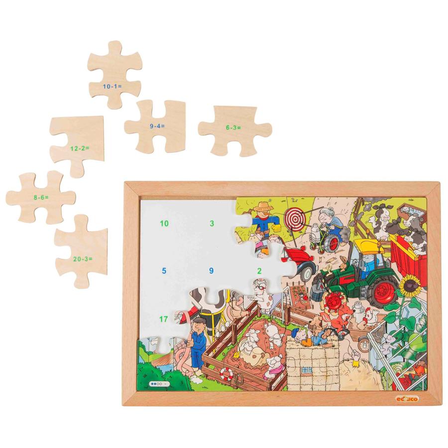 Puzzle cu 24 piese - Învață scăderea imagine edituradiana.ro