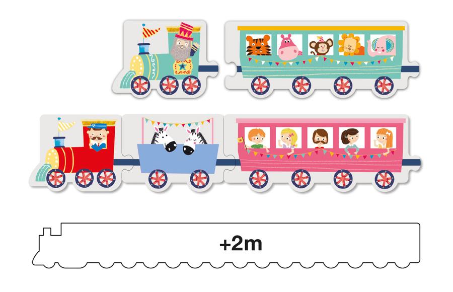 Puzzle cu 20 de piese - Trenulețul imagine edituradiana.ro