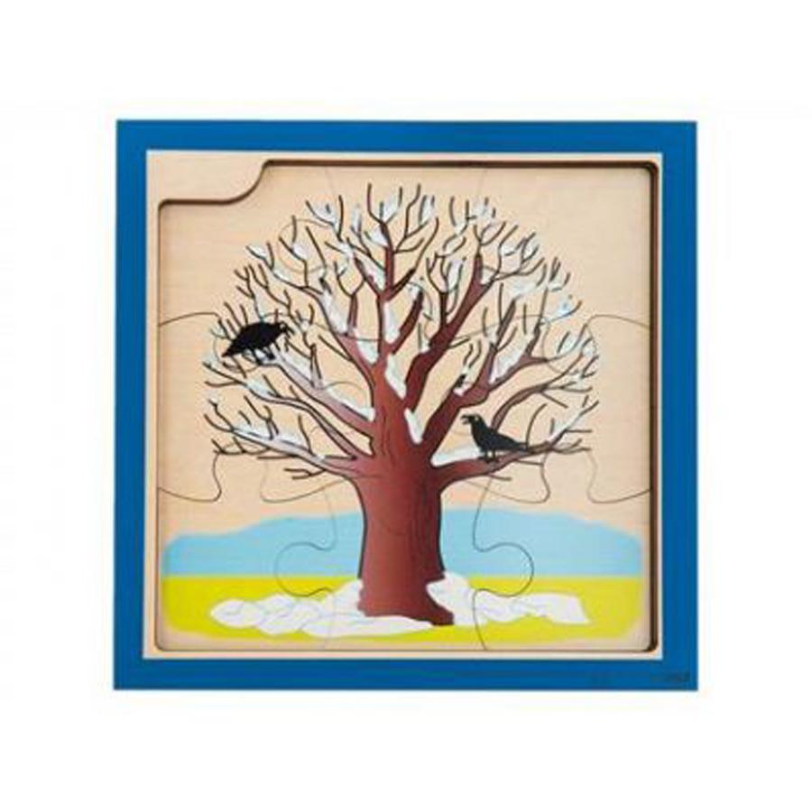 Puzzle de evoluție în 4 straturi - Creșterea copacului 9 piese imagine edituradiana.ro
