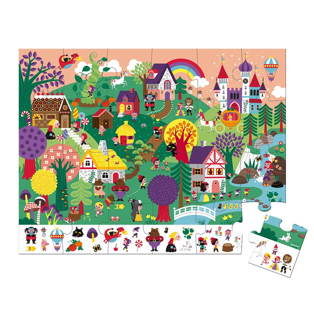 Puzzle de observație cu 24 de piese din carton - Povești imagine edituradiana.ro