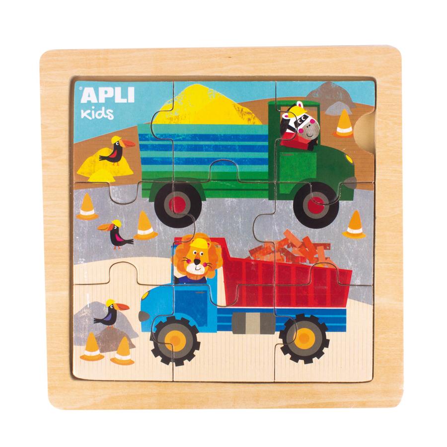 Puzzle din lemn cu 9 piese - Camion imagine edituradiana.ro