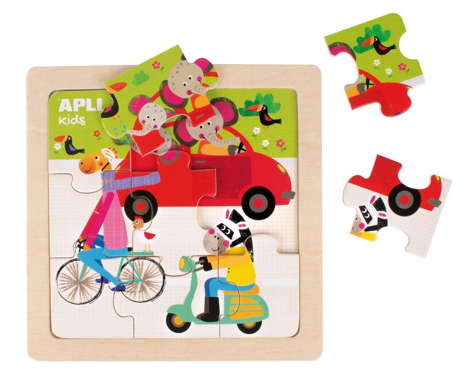Puzzle cu 9 piese din lemn - Mașină imagine edituradiana.ro