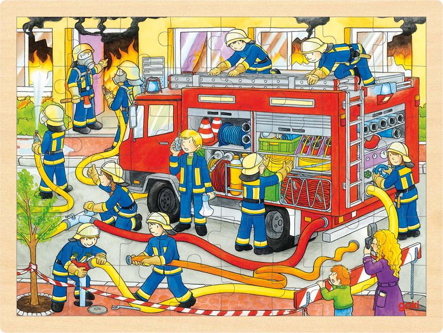 Puzzle din lemn - Pompieri imagine edituradiana.ro