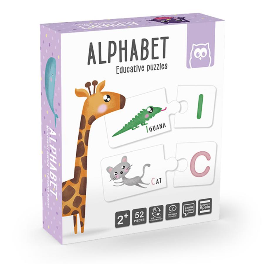 Puzzle educativ Montessori - Învățăm alfabetul imagine edituradiana.ro