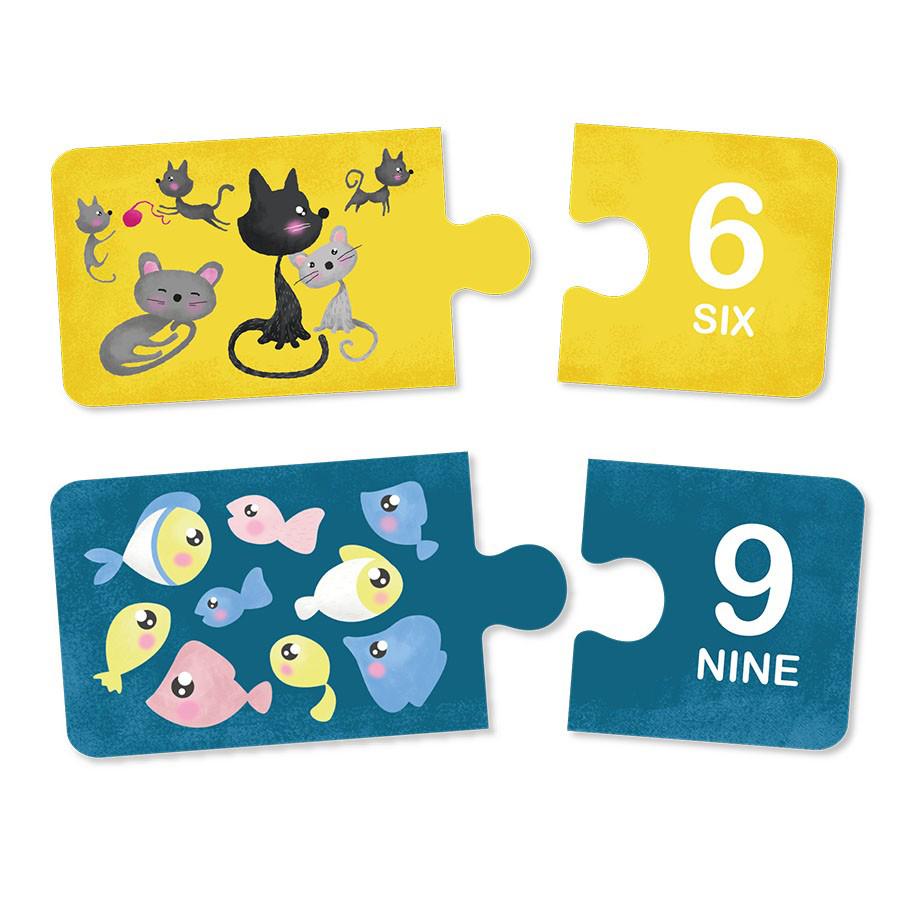 Puzzle educativ Montessori - Învățăm numerele imagine edituradiana.ro