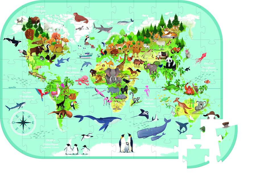 Puzzle - Harta lumii imagine edituradiana.ro