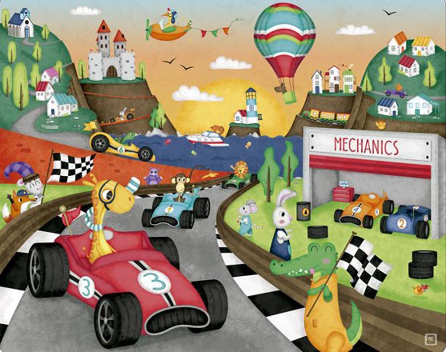 Puzzle - Mașini de curse imagine edituradiana.ro
