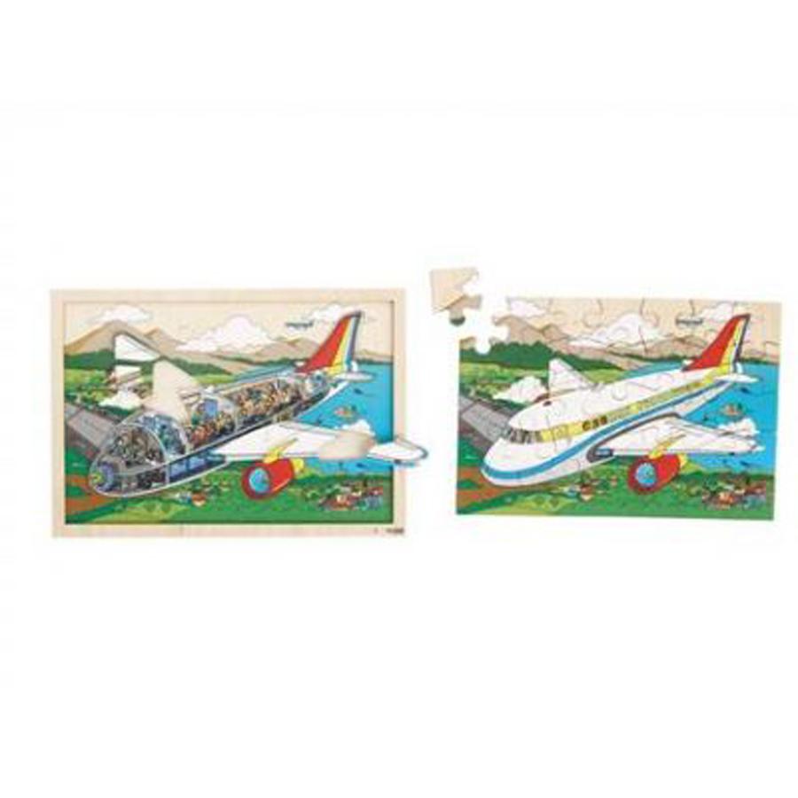 Puzzle în 2 straturi - Privește în interiorul avionului imagine edituradiana.ro