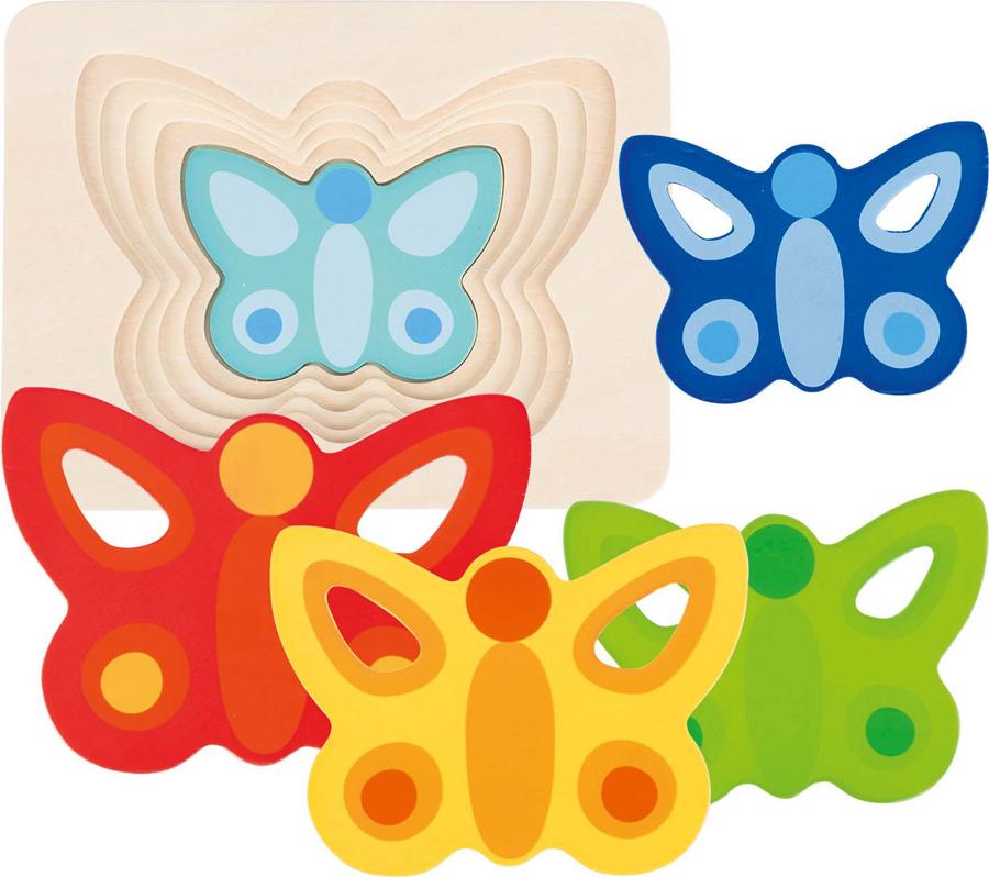 Puzzle în straturi - Fluture II imagine edituradiana.ro