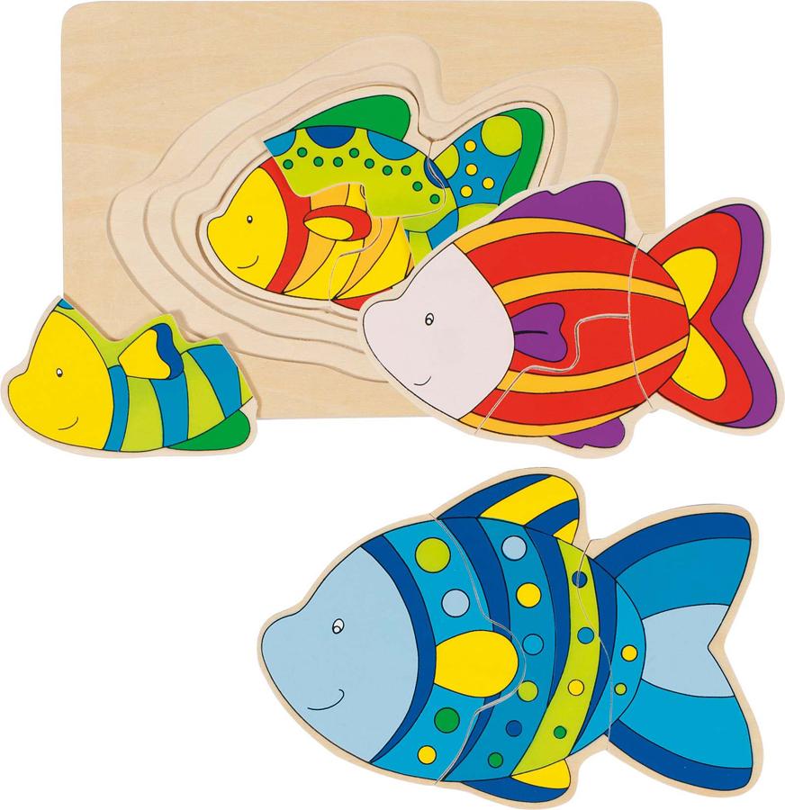 Puzzle în straturi - Pește imagine edituradiana.ro