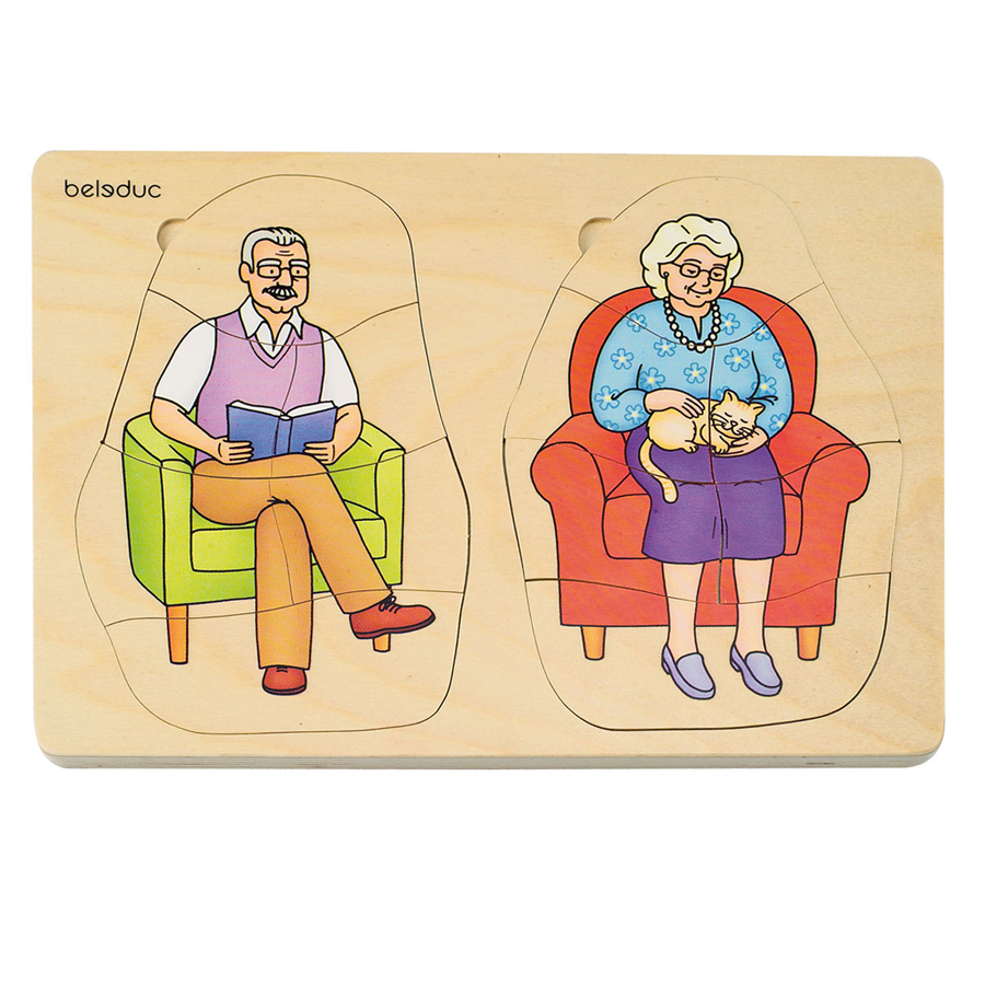 Puzzle Stratificat Bunica și Bunicul