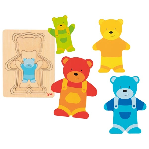 Puzzle stratificat - Ursuleți colorați imagine edituradiana.ro
