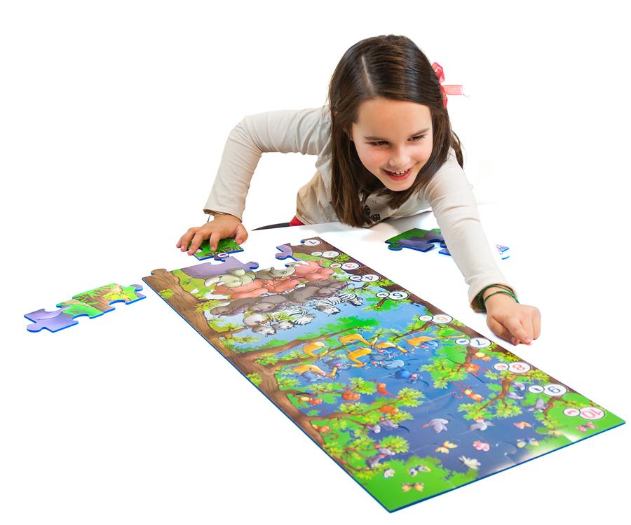 Puzzle uriaș de podea - Animale sălbatice imagine edituradiana.ro