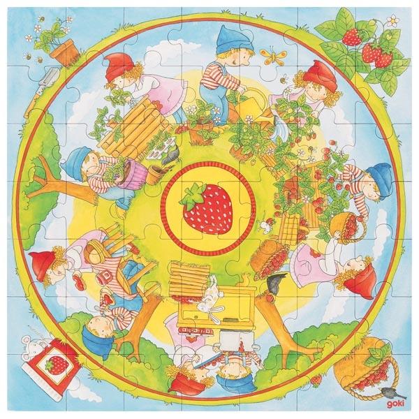 Puzzle XXL -Cultivăm căpșuni imagine edituradiana.ro