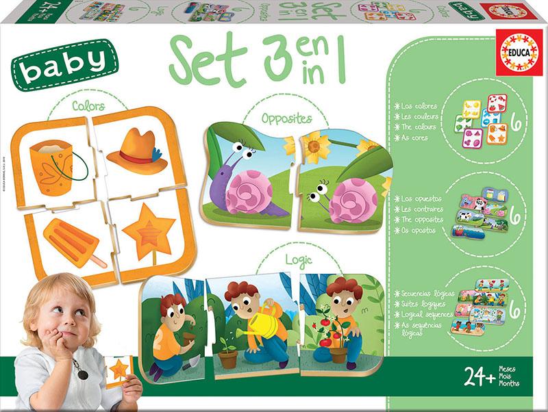 Puzzle 3 în 1 - Culori. Opoziții. Logică imagine edituradiana.ro