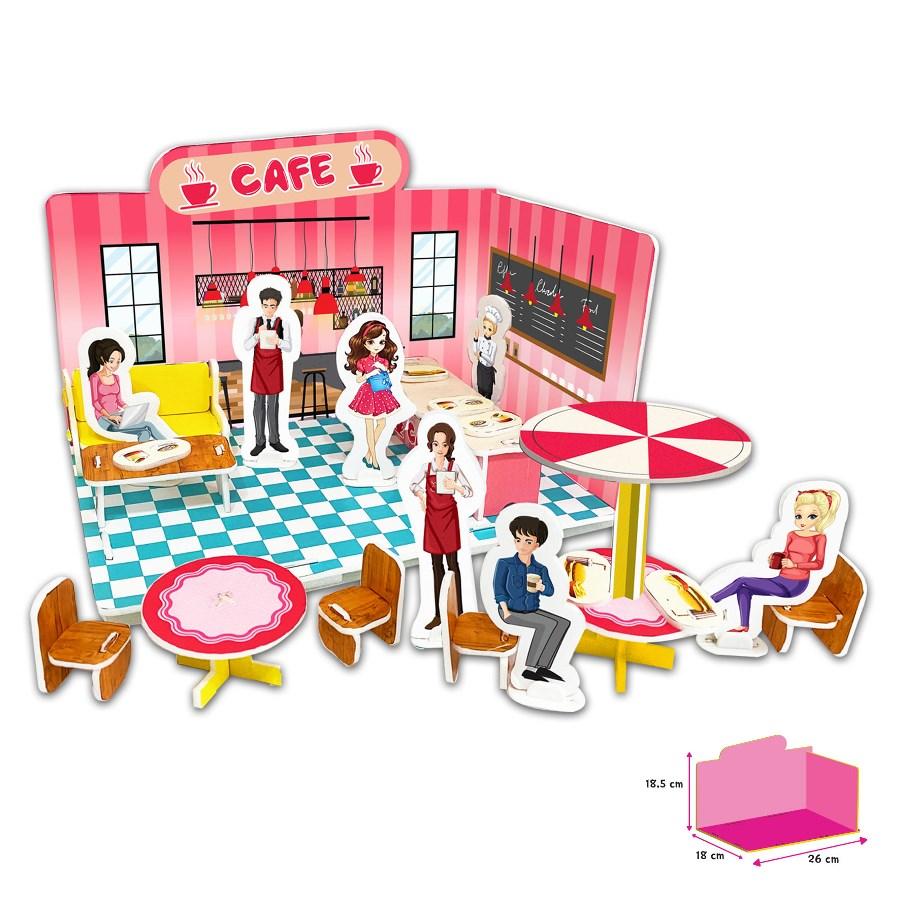 Puzzle 3D - Cafenea imagine edituradiana.ro