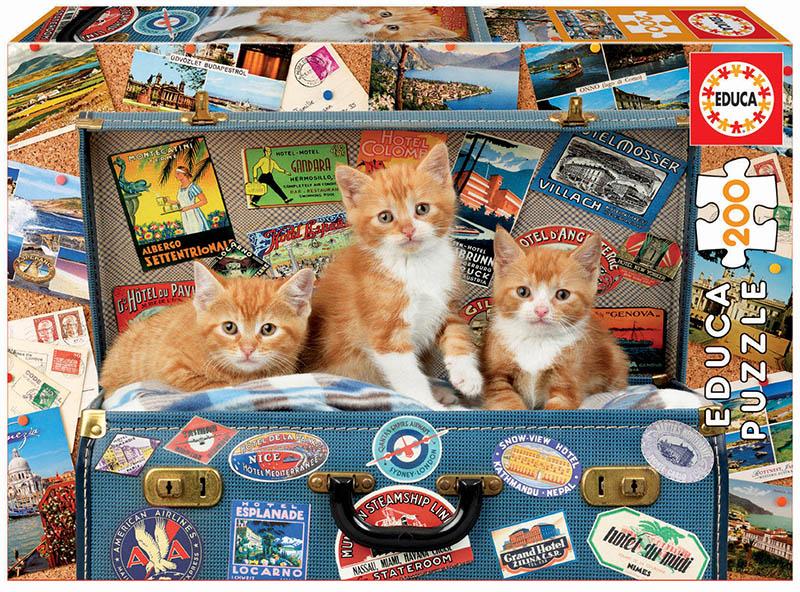 Puzzle cu 200 de piese - Pisici călătoare imagine edituradiana.ro