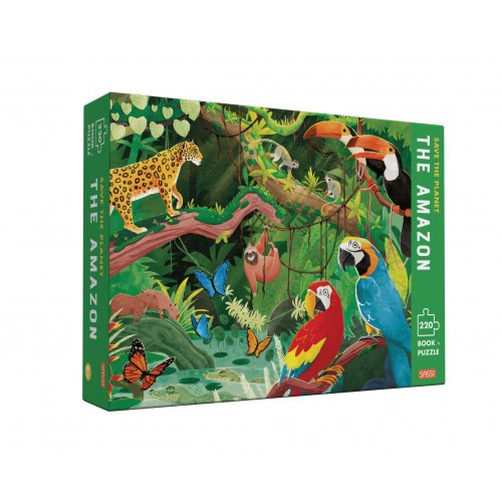 Puzzle cu 220 de piese + carte - Să salvăm planeta. Amazon imagine edituradiana.ro