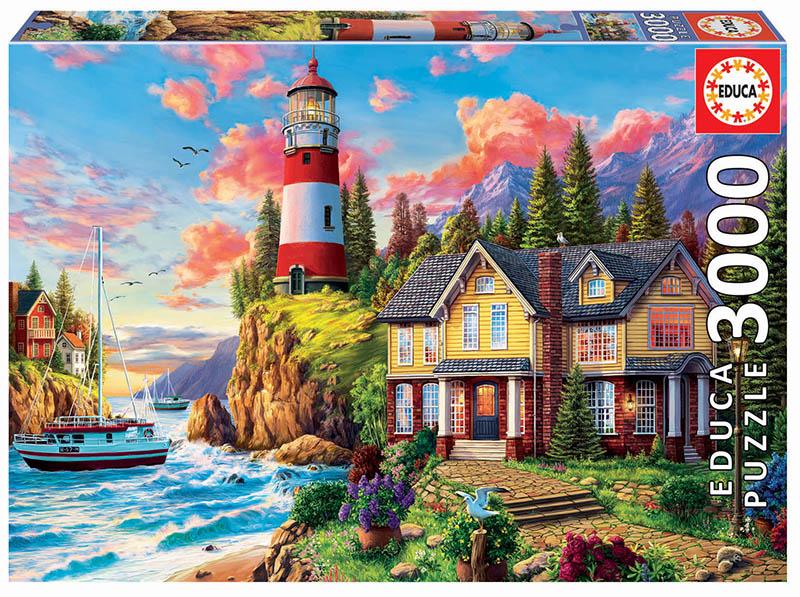 Puzzle cu 3000 de piese - Farul de lângă ocean imagine edituradiana.ro