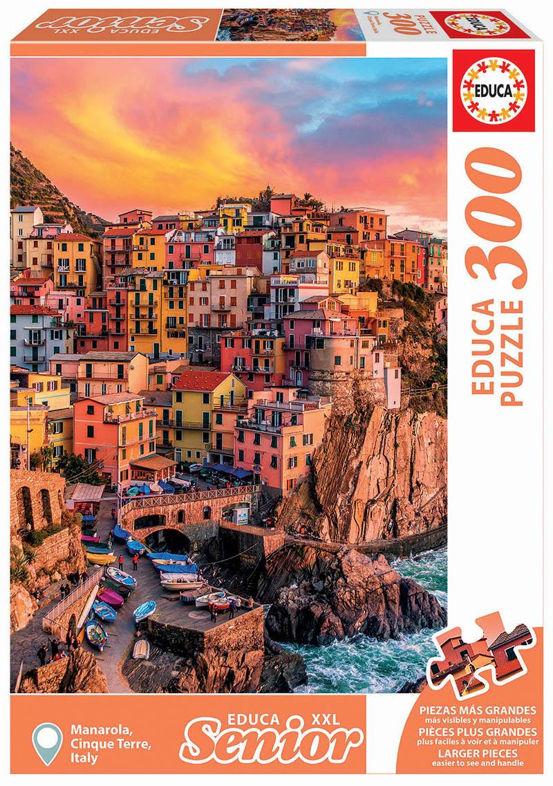 Puzzle cu 300 de piese - Manarola, Cinque Terre, Italia imagine edituradiana.ro