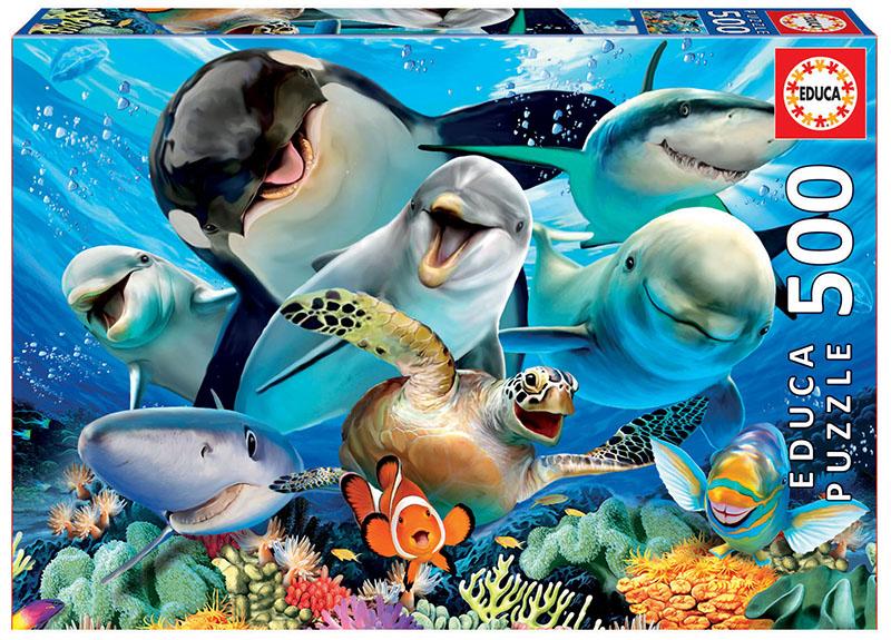 Puzzle cu 500 de piese - Selfie sub apă imagine edituradiana.ro