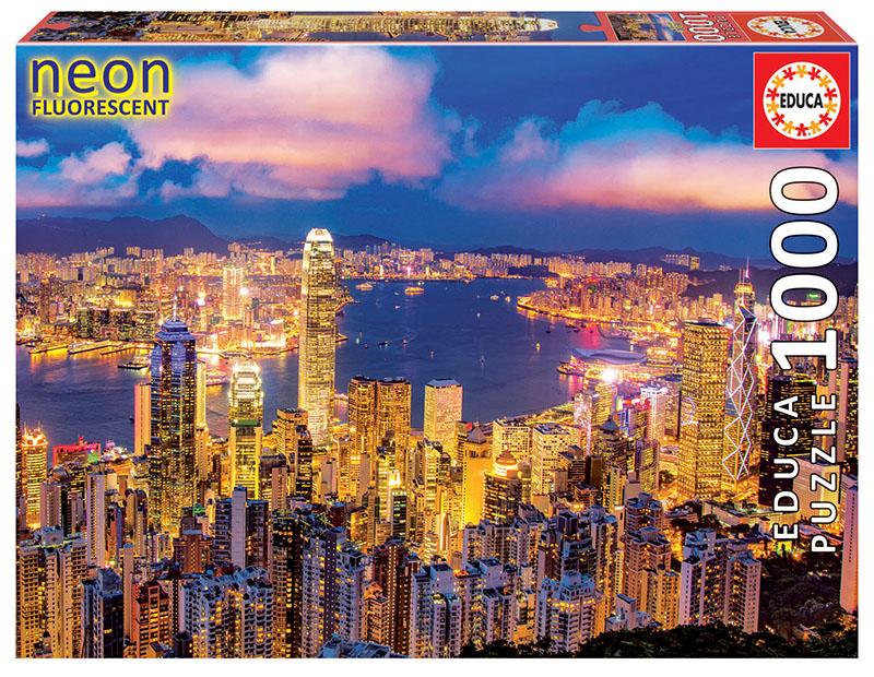 Puzzle fosforescent cu 1000 de piese - Hong Kong imagine edituradiana.ro