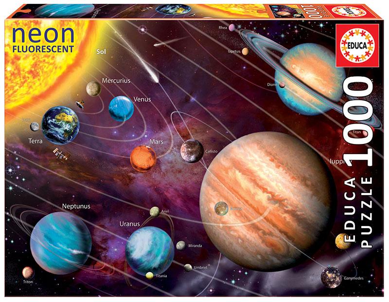 Puzzle fosforescent cu 1000 de piese - Sistemul solar imagine edituradiana.ro