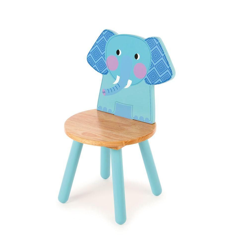 Scaun din lemn cu spătar în formă de elefant imagine edituradiana.ro