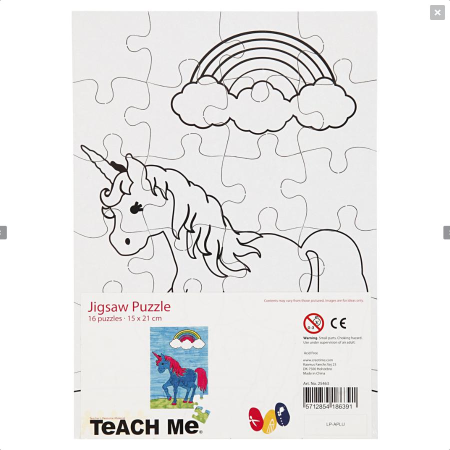 Puzzle de colorat cu 24 de piese - Unicorn imagine edituradiana.ro