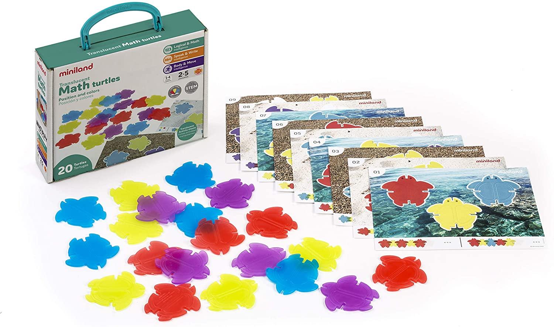 Set 20 broascuțe țestoase translucide și 9 carduri pentru activități matematice imagine edituradiana.ro
