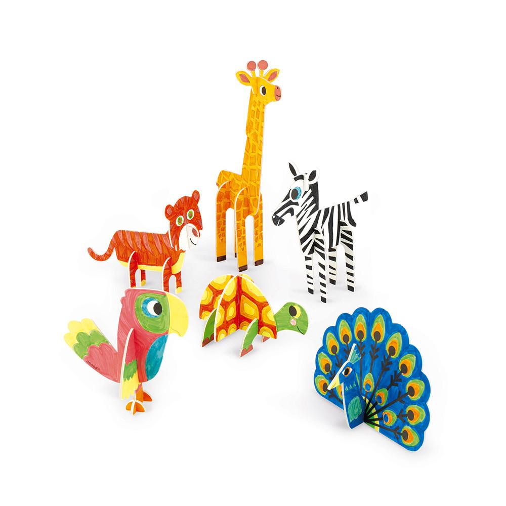 Set 6 animale 3D din spumă de colorat și asamblat imagine edituradiana.ro