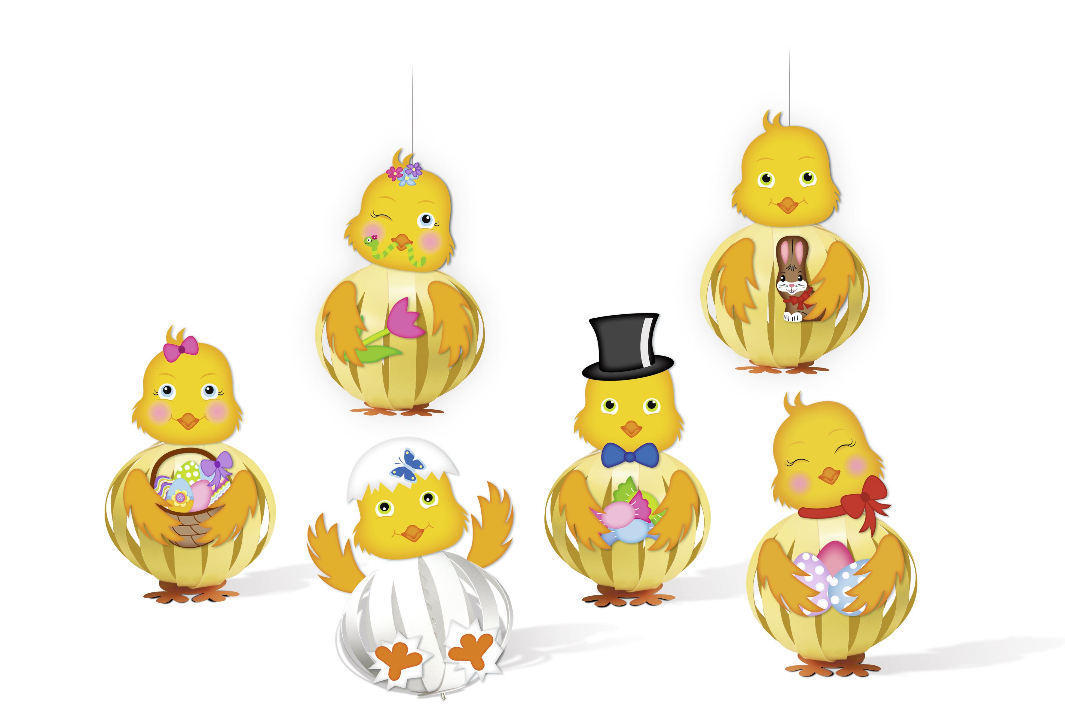 Set creativ - 12 puișori amuzanți din carton imagine edituradiana.ro