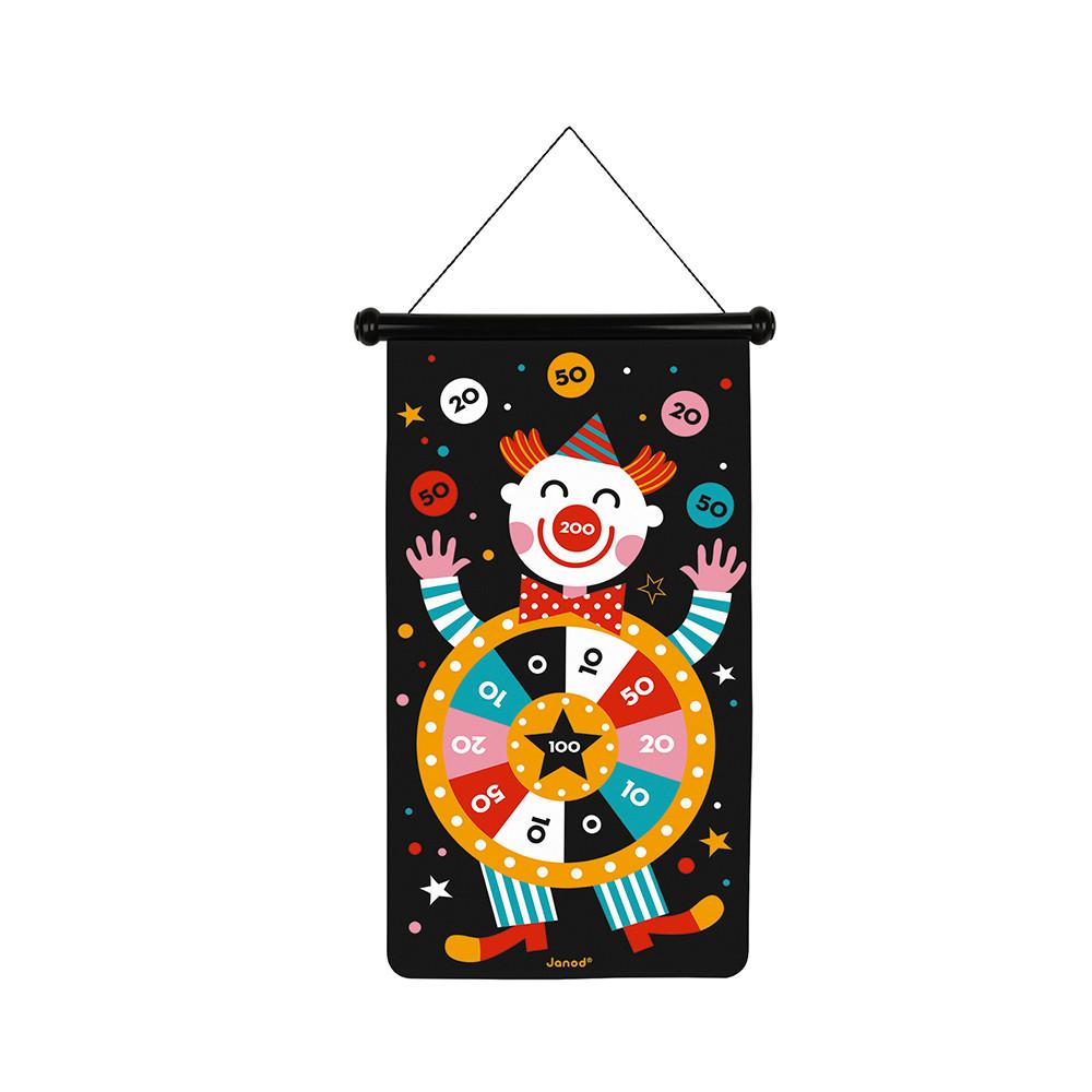 Set darts magnetic cu țintă textilă și 6 săgeți colorate - Circ imagine edituradiana.ro