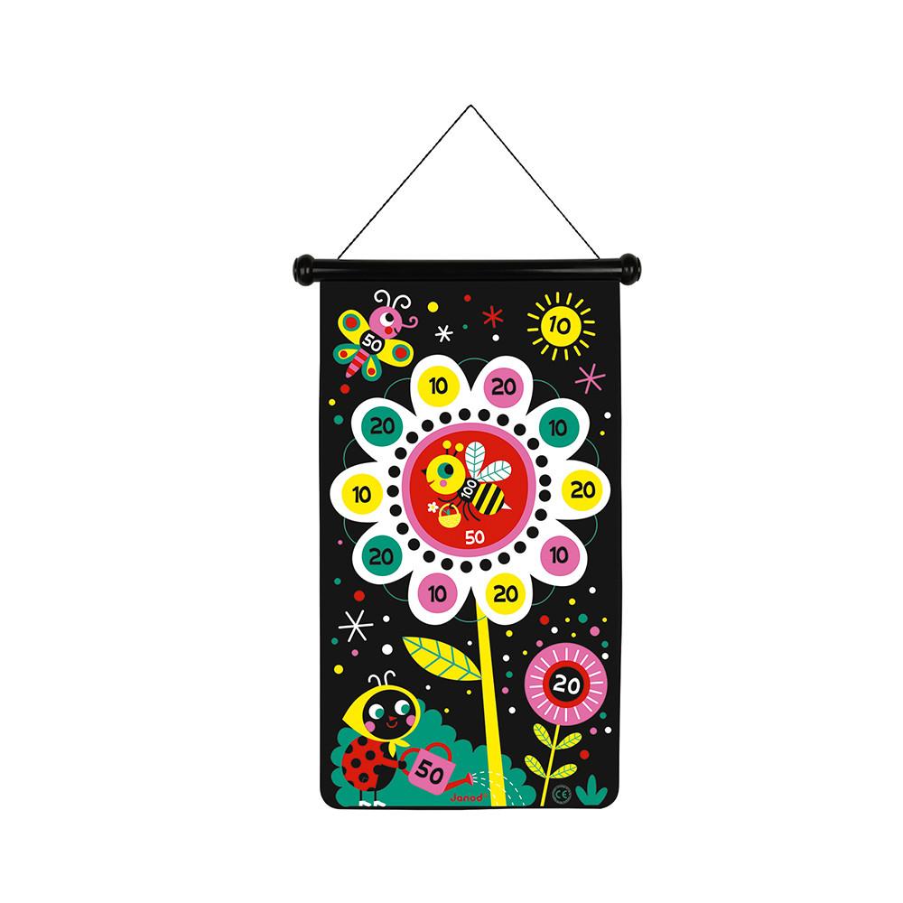 Set darts magnetic cu țintă textilă și 6 săgeți colorate - Grădină imagine edituradiana.ro