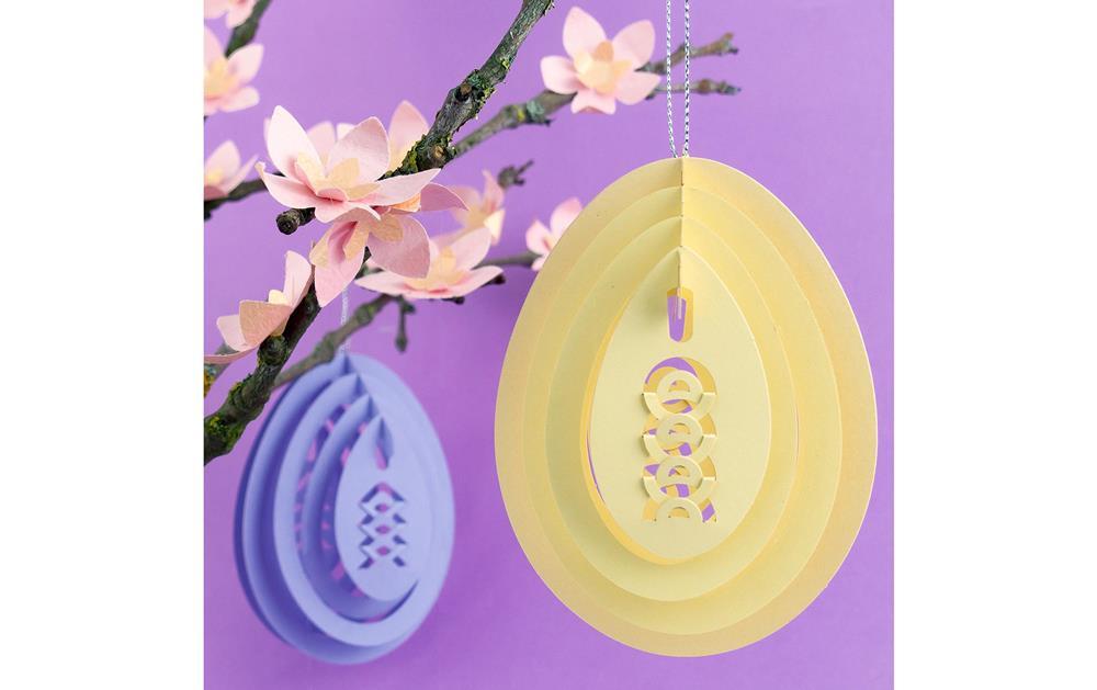 Set de 12 decorațiuni 3D în formă de ouă, pentru agățat imagine edituradiana.ro