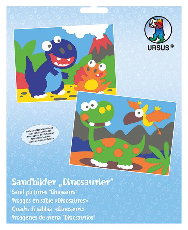 Set de 2 planșe de colorat cu nisip - Dinozauri imagine edituradiana.ro