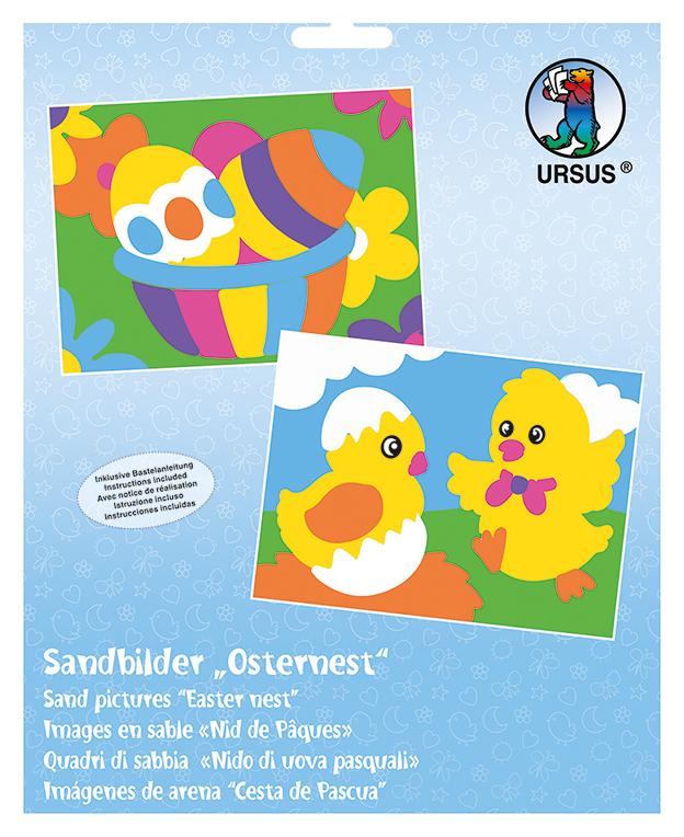 Set de 2 planșe de colorat cu nisip -Puișori de Paște imagine edituradiana.ro