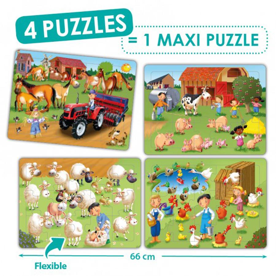 Set de 4 puzzle-uri - Ferma imagine edituradiana.ro