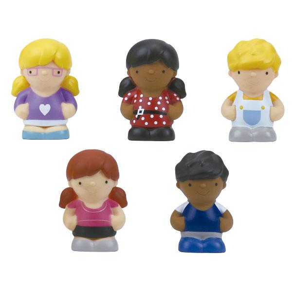 Set de 5 figurine din cauciuc - Prieteni fericiți imagine edituradiana.ro