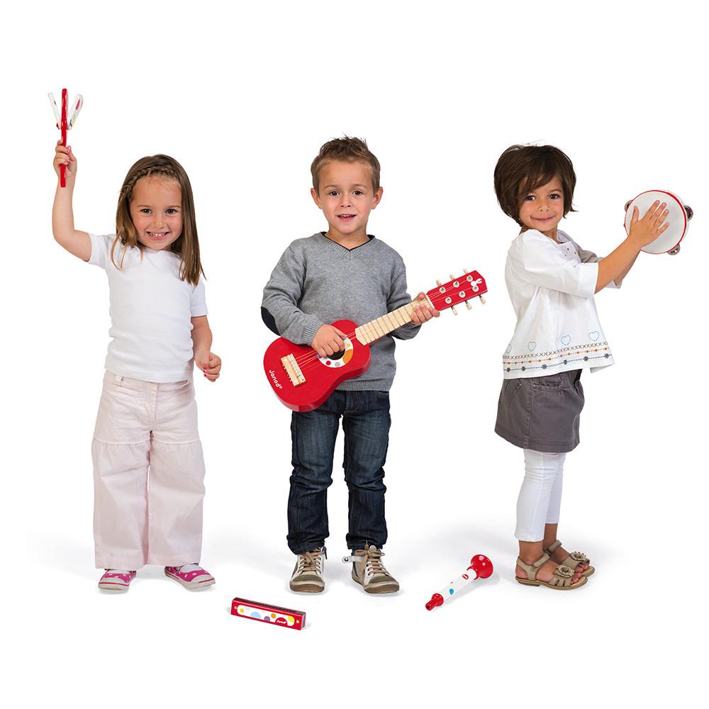Set de 5 instrumente muzicale din lemn imagine edituradiana.ro
