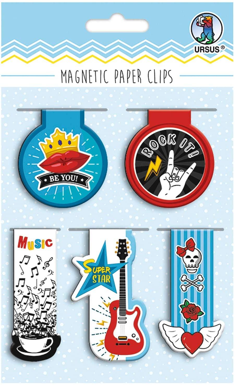 Set de 5 semne de carte magnetice - Rockstar imagine edituradiana.ro