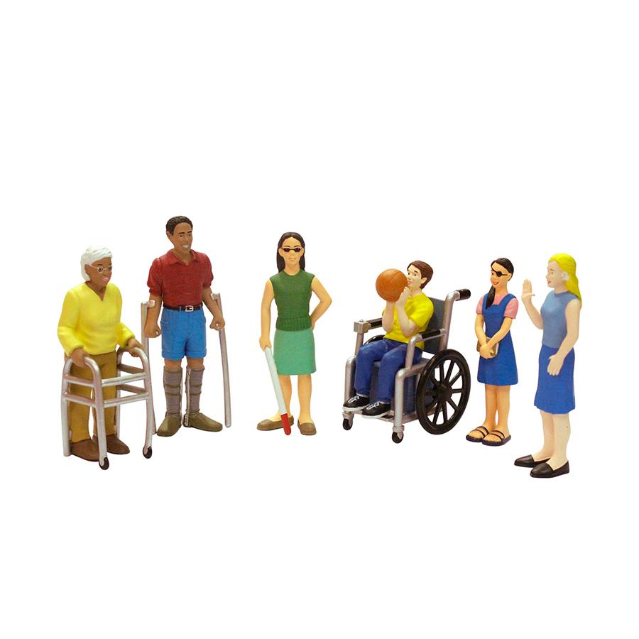 Set de 6 figurine - Persoane cu dizabilități imagine edituradiana.ro