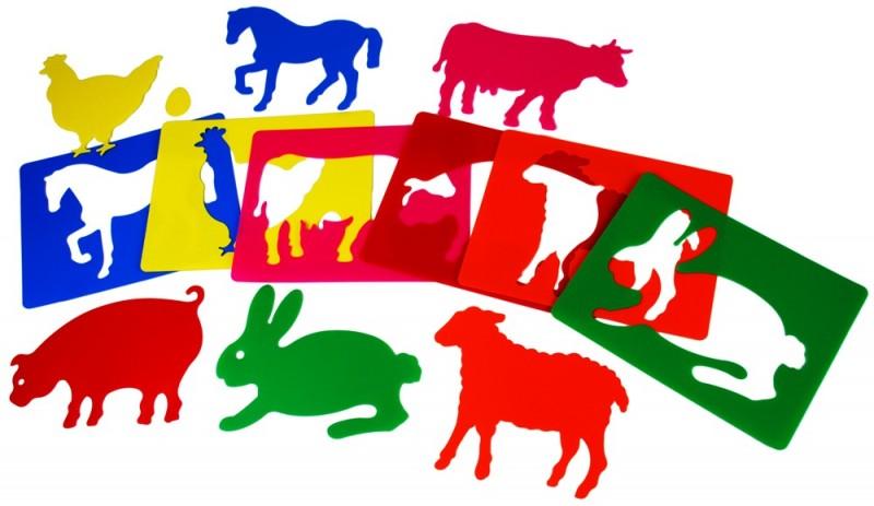 Set de 6 șabloane cu animale de la fermă imagine edituradiana.ro