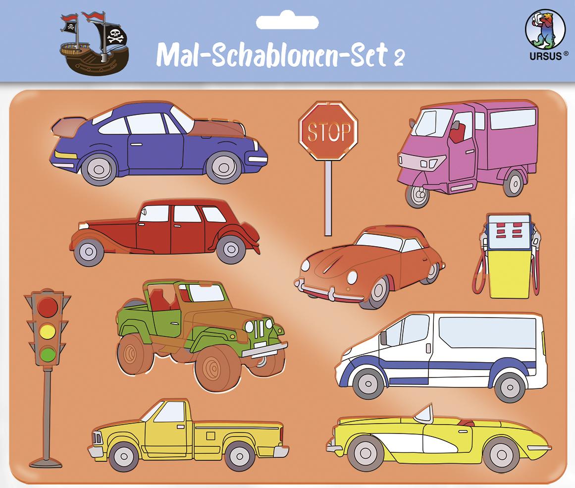 Set de 6 șabloane - Mijloace de transport imagine edituradiana.ro