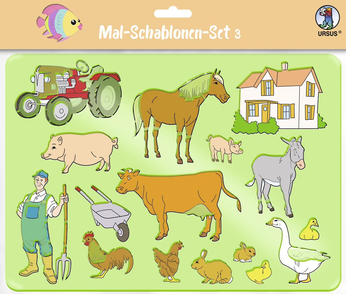 Set de 6 șabloane - Viața la fermă imagine edituradiana.ro