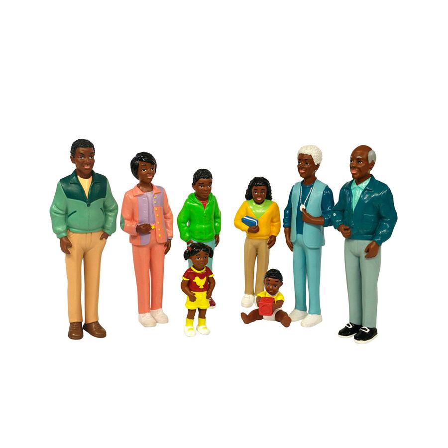 Set de 8 figurine - Familie africană imagine edituradiana.ro
