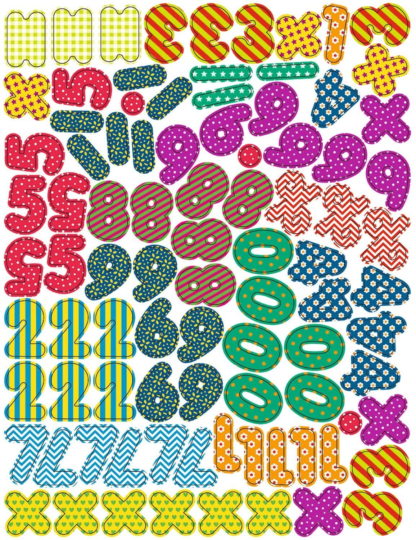 Set de 90 de piese magnetice – Numere și simboluri matematice imagine edituradiana.ro
