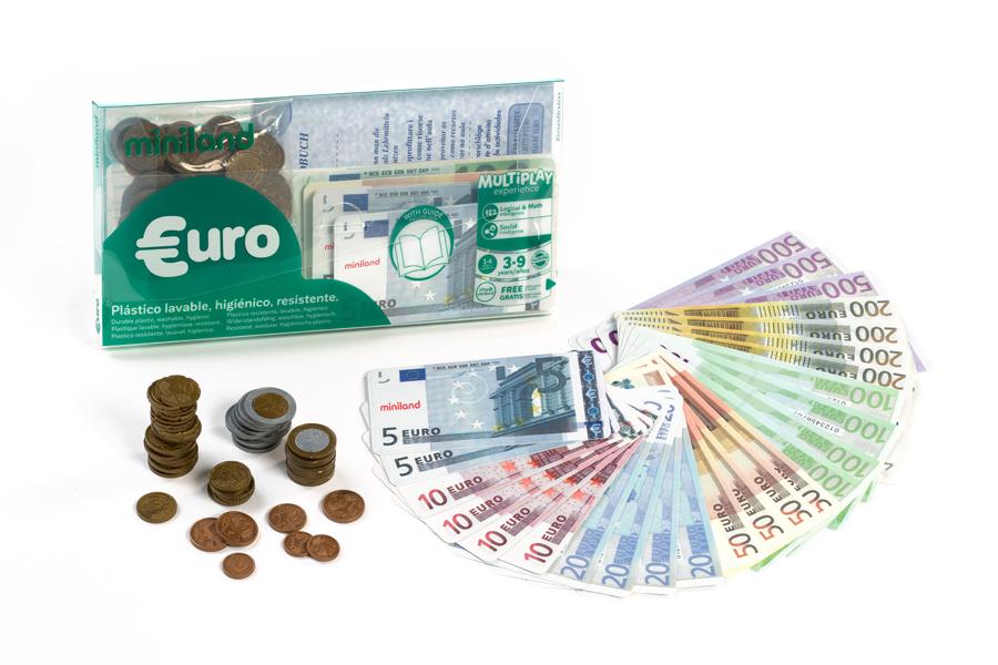 Set de bancnote și monede euro imagine edituradiana.ro