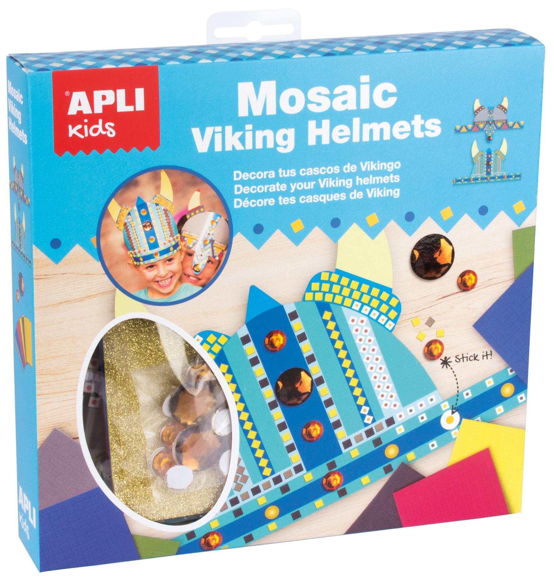 Set de creație tip mozaic cu spumă - 2 căști de protecție pentru vikingi imagine edituradiana.ro
